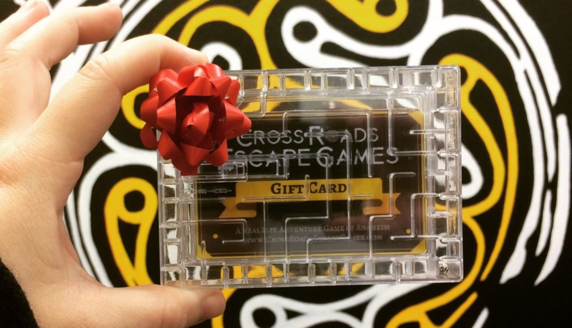 Cross Roads Escape Games Gift Card in puzzle case