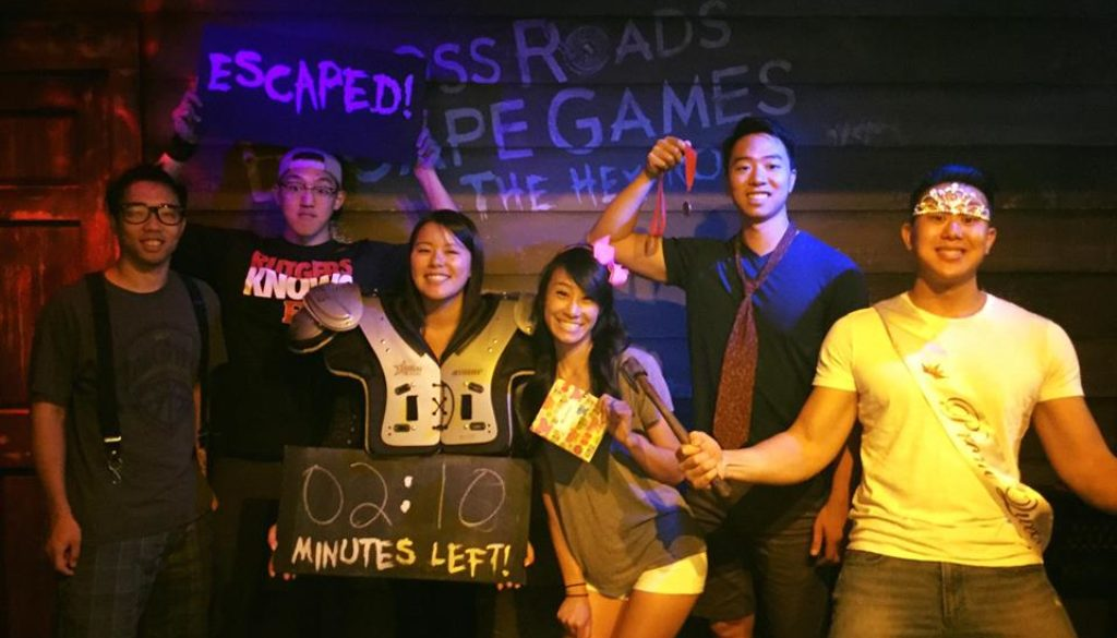 Teammates escape The Hex Room from Cross Roads Escape Games