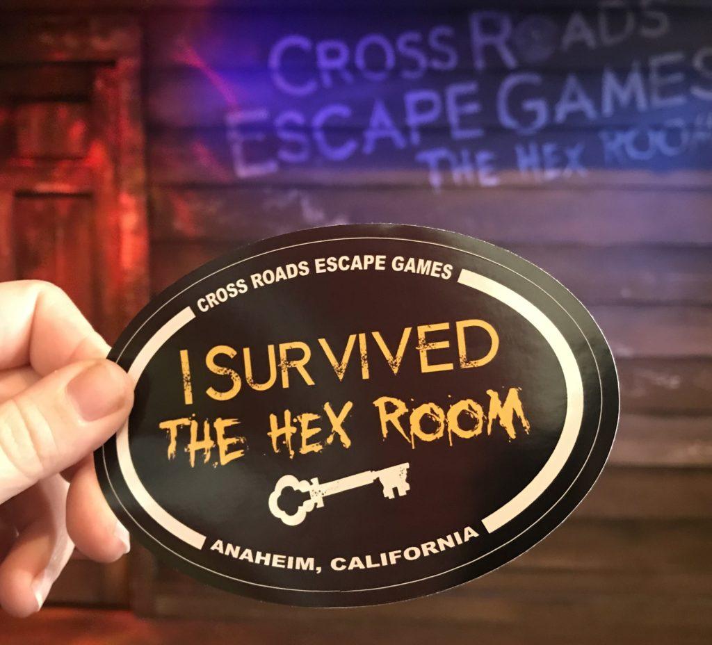I survived The Hex room prize