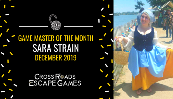 Game Master of the month Sara Strain December 2019