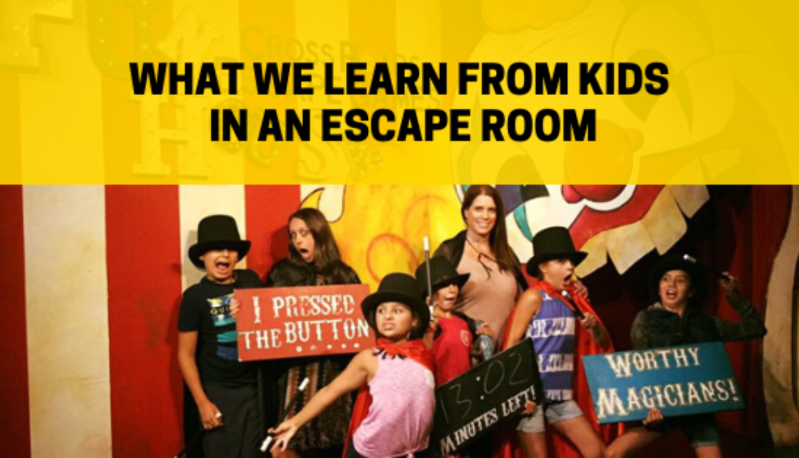 What we learn from KIds in an escape room